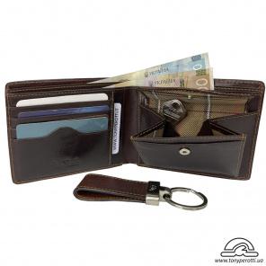 2f41f8072ce4 Портмоне кожаное Vintage 1913 grigio серый - из натуральной кожи ...