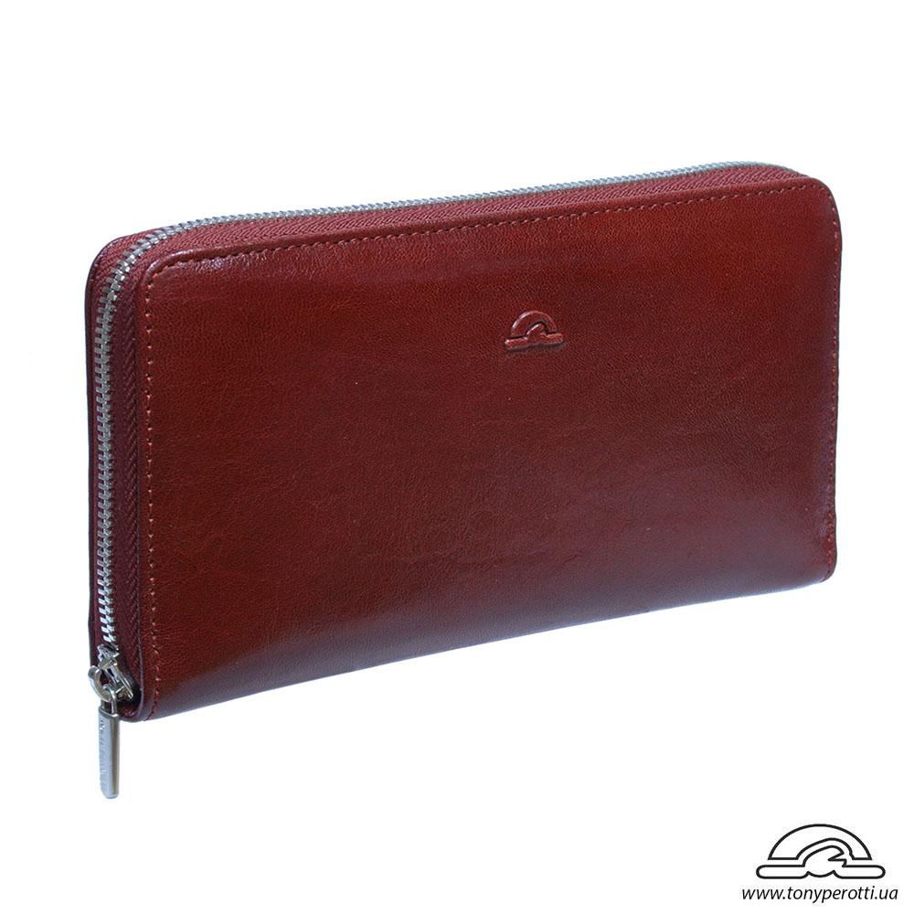 1228f3797319 Красный кожаный кошелек Тони Перотти женский на молнии Nevada 2943 ...