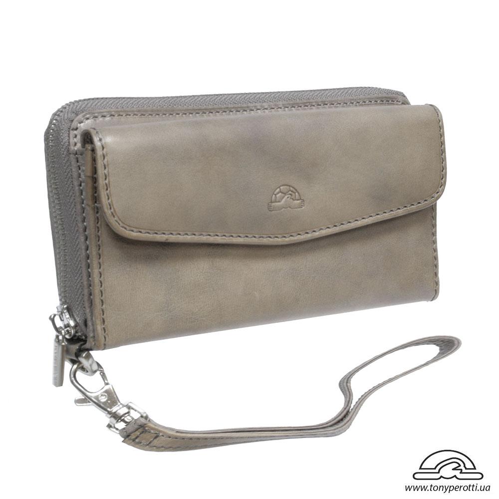 bbd3b04b0dce Портмоне кожаное Vintage 1913 grigio серый - из натуральной кожи  итальянского бренда Tony Perotti